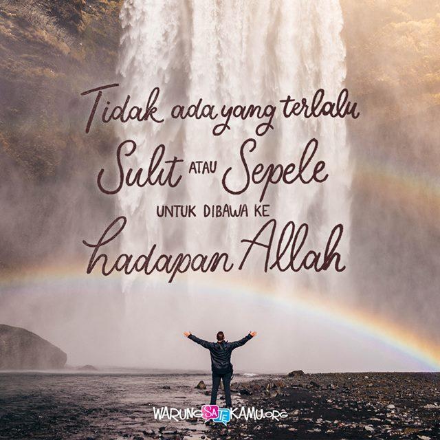 Berdoa untuk Segala Sesuatu